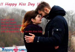 Kiss Day Wishes : Lové is héât. You âré swéét.