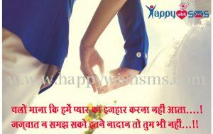 2 Line Shayari : चलो माना कि हमें प्यार का इज़हार करना नहीं आता….!