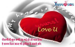 Love Shayari in Hindi , love Shayari , Message, Sms,Quotes, Shayari,2 line shayari.